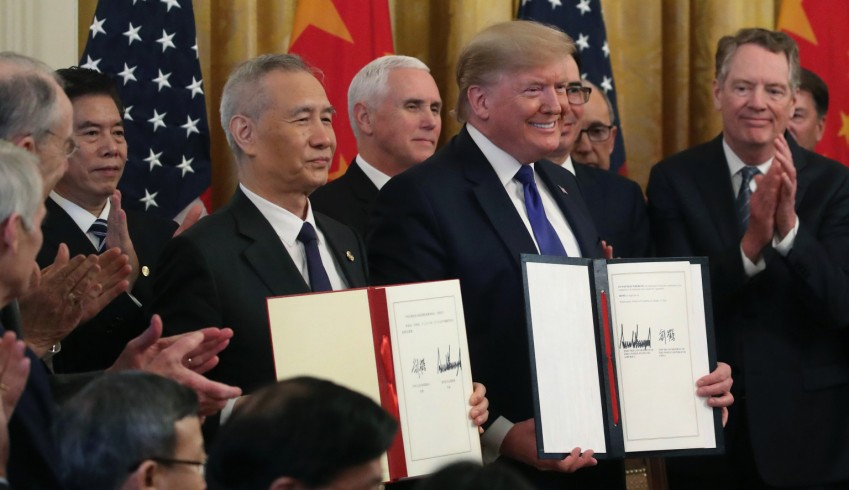 U.S. President Donald Trump and Chinese Vice Premier Liu He