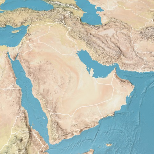 Map of the Gulf Arab states